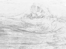 Zwart-witte houten textuur Royalty-vrije Stock Afbeelding