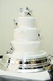 Zwart-witte huwelijkscake stock fotografie