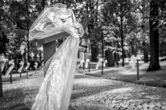 Zwart-witte huwelijksdecoratie, stock afbeelding