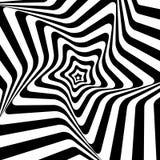Zwart-witte Hypnotic Achtergrond. Vector stock illustratie