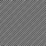 Zwart-witte hypnotic illusieachtergrond, vector stock illustratie