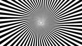 Zwart-witte hypnotic spiraal stock illustratie