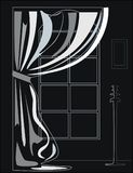 Zwart-witte illustratie van het binnenland Royalty-vrije Stock Fotografie