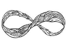 Zwart-witte illustratie van het teken van eeuwigheid royalty-vrije illustratie