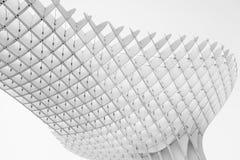 Zwart-witte indruk van Metropol-Parasol Stock Foto's