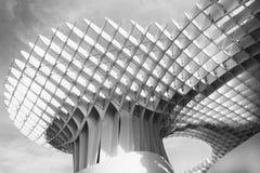 Zwart-witte indruk van Metropol-Parasol Royalty-vrije Stock Foto