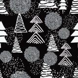 Zwart-witte Kerstmis royalty-vrije illustratie