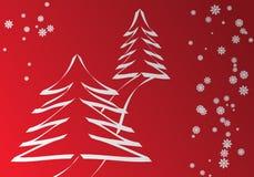 Zwart-witte Kerstmis Stock Afbeeldingen
