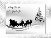 Zwart-witte Kerstmisachtergrond Royalty-vrije Stock Afbeelding