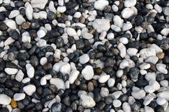 Zwart-witte kiezelstenen Royalty-vrije Stock Afbeelding