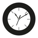 Zwart-witte klok bij de witte achtergrond Royalty-vrije Stock Fotografie