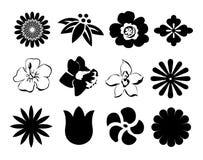 Zwart-witte knopen Stock Foto's