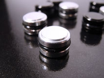 Zwart-witte Knopen stock afbeeldingen