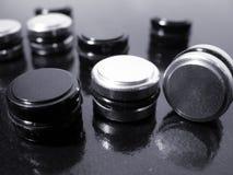 Zwart-witte Knopen royalty-vrije stock afbeeldingen