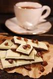 Zwart-witte koffiechocoladereep Royalty-vrije Stock Afbeeldingen