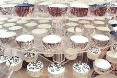 Zwart-witte kop-Cakes Royalty-vrije Stock Fotografie