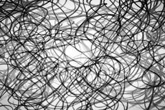 Zwart-witte krabbels Stock Afbeelding