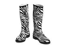 Zwart-witte laarzen Royalty-vrije Stock Foto