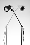 Zwart-witte lampen Royalty-vrije Stock Foto's