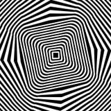 Zwart-witte lijnenoptische illusie Vector illustratie royalty-vrije illustratie