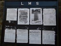 Zwart-witte LMS noticeboard stock foto