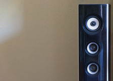 Zwart-witte luidspreker Akoestisch correct concept Royalty-vrije Stock Fotografie