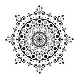 Zwart-witte mandala Royalty-vrije Stock Fotografie