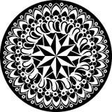 Zwart-witte mandala Royalty-vrije Stock Foto