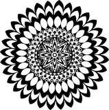 Zwart-witte mandala Royalty-vrije Stock Afbeelding