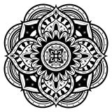 Zwart-witte mandala Royalty-vrije Stock Foto's