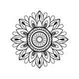 Zwart-witte mandala Royalty-vrije Stock Afbeeldingen