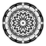 Zwart-witte Mandala Illustration Vector vector illustratie