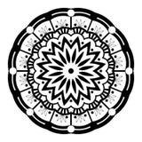 Zwart-witte Mandala Illustration Vector vector illustratie