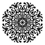 Zwart-witte Mandala Illustration Vector royalty-vrije illustratie
