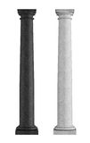 Zwart-witte marmeren Toscaanse kolom Royalty-vrije Stock Afbeeldingen