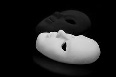 Zwart-witte maskers Royalty-vrije Stock Foto