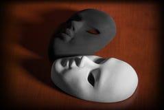 Zwart-witte maskers Royalty-vrije Stock Foto's