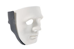 Zwart-witte maskers zoals menselijk gedrag, conceptie Royalty-vrije Stock Foto's
