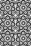 Zwart-witte meditatiemandala vector illustratie