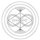Zwart-witte meetkunde van oneindigheid en harmonie royalty-vrije illustratie