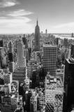 Zwart-witte mening van Manhattan, New York Royalty-vrije Stock Foto