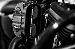 Zwart-witte Motorfiets Royalty-vrije Stock Afbeelding