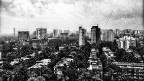 Zwart-witte Mumbaistad royalty-vrije stock foto