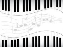 Zwart-witte muzieknoten Stock Fotografie