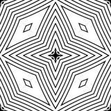 Zwart-witte naadloze patroon geometrische voering stock foto