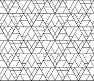 Zwart-witte naadloze patroonsamenvatting Stock Afbeelding
