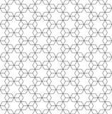 Zwart-witte naadloze patroonsterren royalty-vrije illustratie