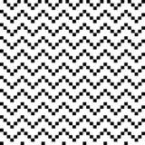 Zwart-witte naadloze zigzag Royalty-vrije Stock Afbeelding
