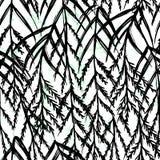 Zwart-witte ontwerp van het inkt het hand getrokken botanische naadloze patroon vector illustratie