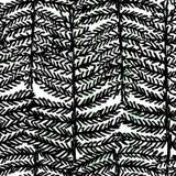 Zwart-witte ontwerp van het inkt het hand getrokken botanische naadloze patroon stock illustratie